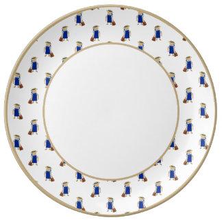 De nuevo al modelo de la escuela de colegialas plato de cerámica