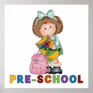 De nuevo al regalo preescolar de la escuela para e poster