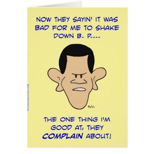 de obama de la sacudida shakedown abajo tarjetas