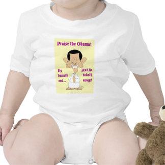 de obama del baileth alabanza ausente del taketh traje de bebé