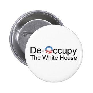 De-Occupy the White House Pinback Button