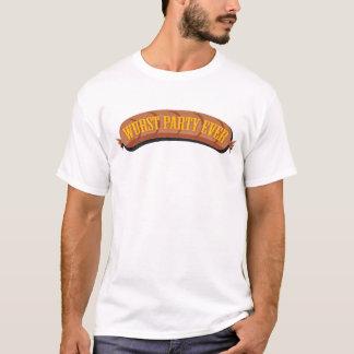 De Oktoberfest del Wurst del fiesta camiseta nunca