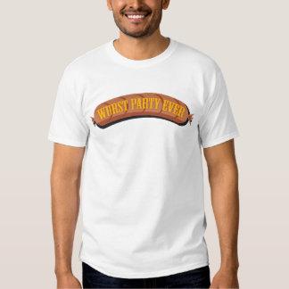 De Oktoberfest del Wurst del fiesta camiseta nunca Playera