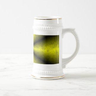 De oro - amarillo - negro arcos iris jarra de cerveza