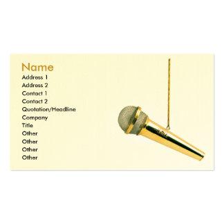 ♫ de oro de la pieza vocal del ♫ tarjetas de visita