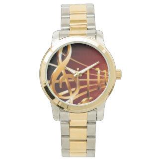 De oro dominantes musicales - reloj de mano