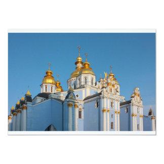 De oro hace frente de San Miguel en catedral en Invitación 12,7 X 17,8 Cm