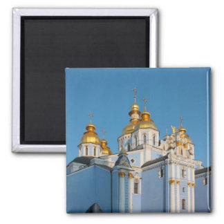 De oro hace frente de San Miguel en catedral en Ki Imanes Para Frigoríficos
