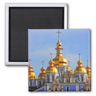 De oro hace frente en de catedral en Kiev Iman Para Frigorífico