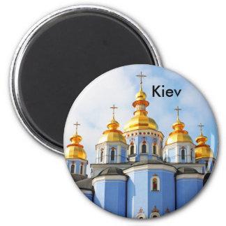 De oro hace frente en de catedral en Kiev Kiev Imán De Frigorífico