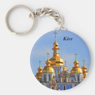 De oro hace frente en de catedral en Kiev, Kiev Llavero Redondo Tipo Pin