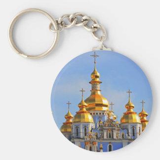 De oro hace frente en de catedral en Kiev Llavero Personalizado