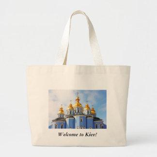 De oro hace frente en de catedral en Kiev, t agrad Bolsa Tela Grande