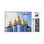 De oro hace frente en de catedral en Kiev, Ucrania Estampilla
