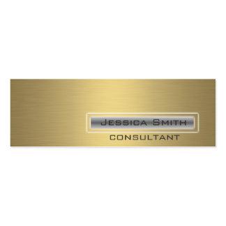 De oro llano contemporáneo elegante profesional tarjetas de visita