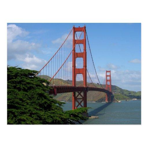 de oro-puerta-puente-en-san-Francisco Postal