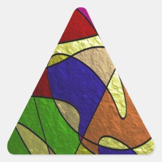 de oro tragada pegatinas de triangulo