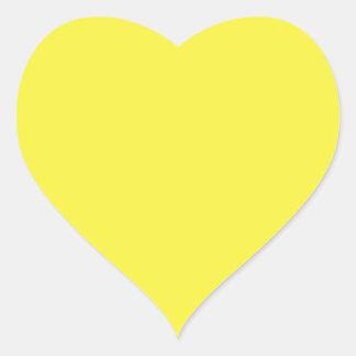 De oro vivo pegatina en forma de corazón