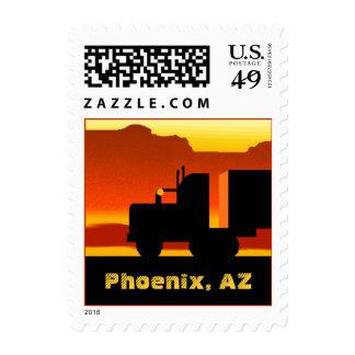 De OTR del camión sello Arizona Phoenix del viaje