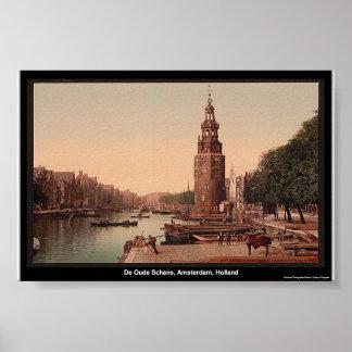De Oude Schans, Amsterdam, Holland Poster
