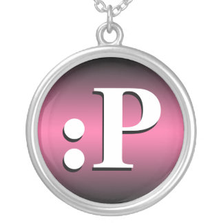 : ~ de P que pega el collar rosado del Emoticon de