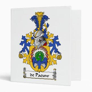 de Paeuw Family Crest 3 Ring Binders