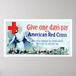 Dé paga día a la Cruz Roja (US00048) Posters