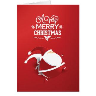 De Papá Noel navidad rojo mismo Tarjeta De Felicitación
