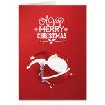 De Papá Noel navidad rojo mismo Tarjetas