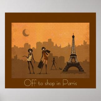de para hacer compras en París Póster