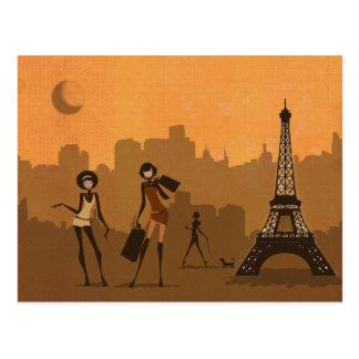 de para hacer compras en París Tarjeta Postal