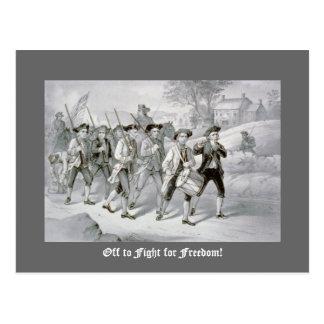 ¡De para luchar para la libertad! Postal
