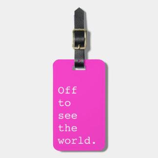 De para ver el mundo - etiquetas bolsas
