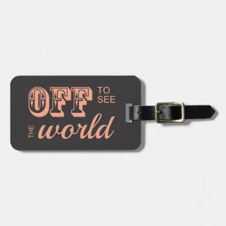 De para ver el mundo - para el aventurero etiqueta de maleta
