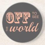 De para ver el mundo - para el aventurero posavasos diseño
