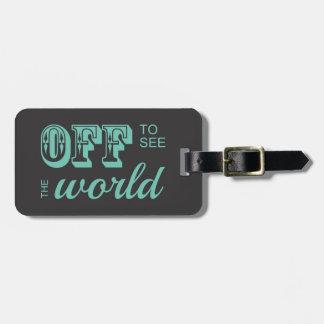 De para ver el mundo - trullo - para el aventurero etiquetas de equipaje