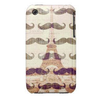 De París con el bigote iPhone 3 Case-Mate Cárcasa