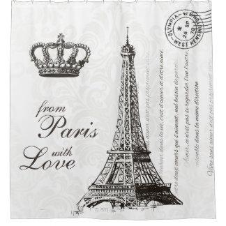 De París con la decoración blanco y negro del Cortina De Baño