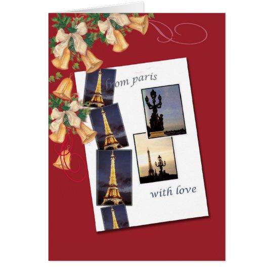 De París con saludos del navidad del amor Tarjeta De Felicitación
