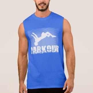 De Parkour de los hombres camiseta sin mangas del