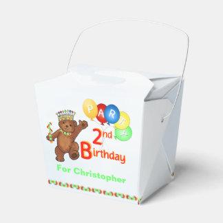 De peluche del oso 2do cumpleaños personalizado de cajas para regalos de boda