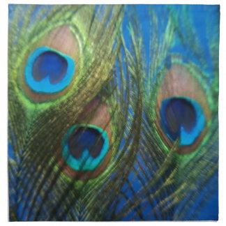 De pescados del ojo todavía del pavo real vida servilleta imprimida