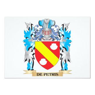De-Petris escudo de armas - escudo de la familia Invitación 12,7 X 17,8 Cm