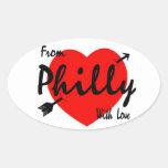 De Philly con amor Pegatina Ovalada