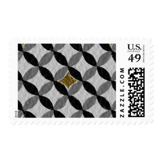 De pie alegre ascendente simple sellos postales
