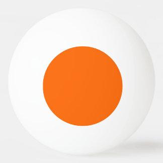 De ping-pong de la bola naranja uni pelota de tenis de mesa