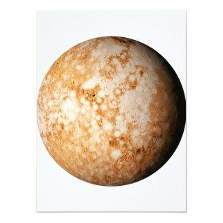 """~~ de PLUTÓN del PLANETA (Sistema Solar) Invitación 6.5"""" X 8.75"""""""