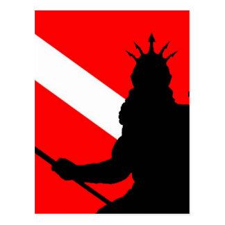 ` de Poseidon II de la bandera de la zambullida Tarjetas Postales