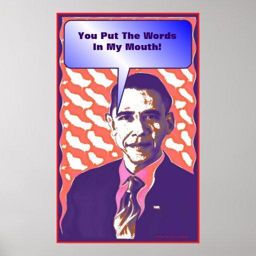 """De """"poster político de la sátira del arte pop Obam Póster"""