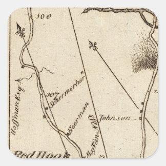 De Poughkeepsie a Albany 22 Pegatina Cuadrada